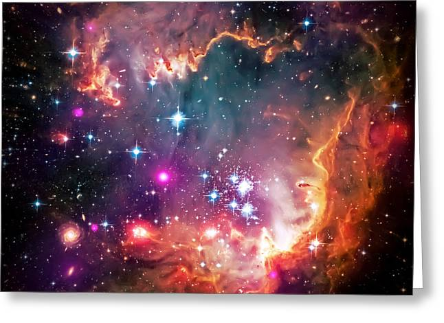 Magellanic Greeting Cards - Magellanic Cloud 2 Greeting Card by The  Vault - Jennifer Rondinelli Reilly