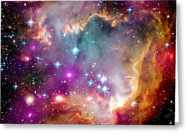 Magellanic Greeting Cards - Magellanic Cloud Greeting Card by Benjamin Yeager