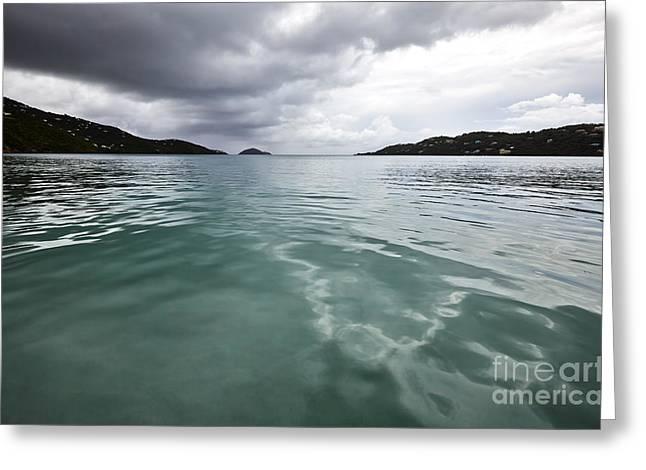 Virgin Pyrography Greeting Cards - Magens Bay Beach St. Thomas Greeting Card by Eyzen M Kim