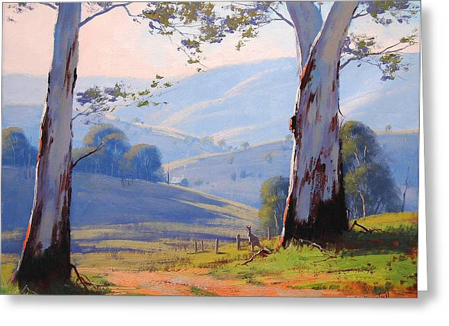 Australian Tree Greeting Cards - Magestic Gums Greeting Card by Graham Gercken