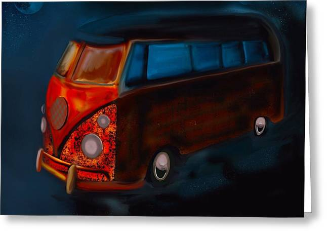 Magic Bus Greeting Cards - Magic Bus Greeting Card by Karen Harding