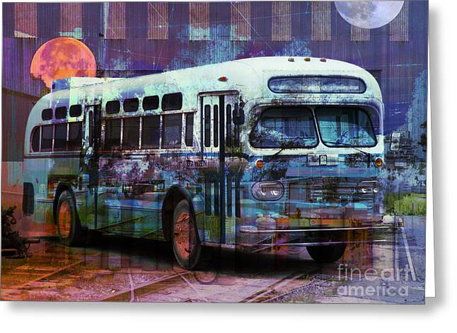 Magic Bus Greeting Cards - Magic Bus Greeting Card by Robert Ball