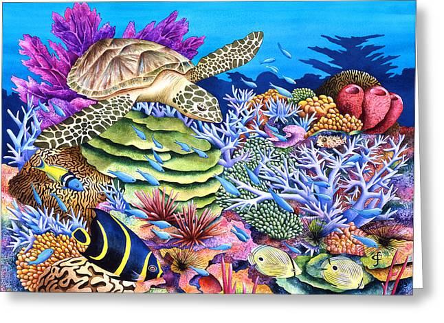 Sea Animals Greeting Cards - Magic Carpet Ride Greeting Card by Carolyn Steele