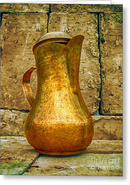 Old Pitcher Greeting Cards - Magic Coffeepot 1 Greeting Card by GabeZ Art