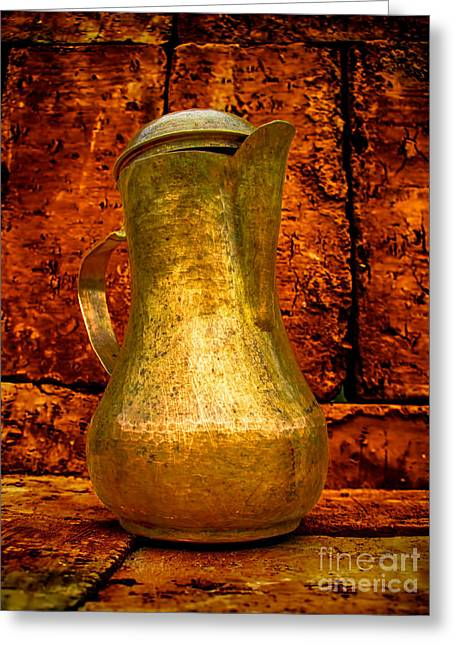 Old Pitcher Greeting Cards - Magic Coffeepot 2 Greeting Card by GabeZ Art