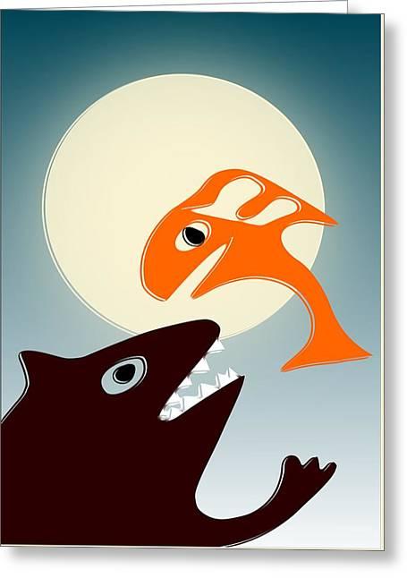 Decorative Fish Greeting Cards - Magic Fish Greeting Card by Anastasiya Malakhova