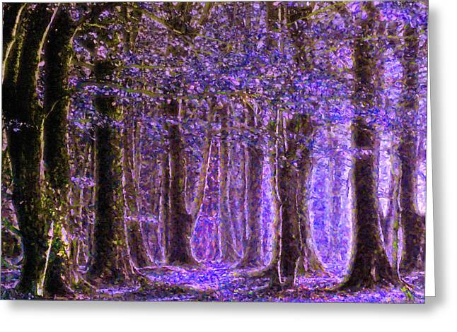 Cadeau Greeting Cards - Magic Forest - Impressionism Greeting Card by Georgiana Romanovna