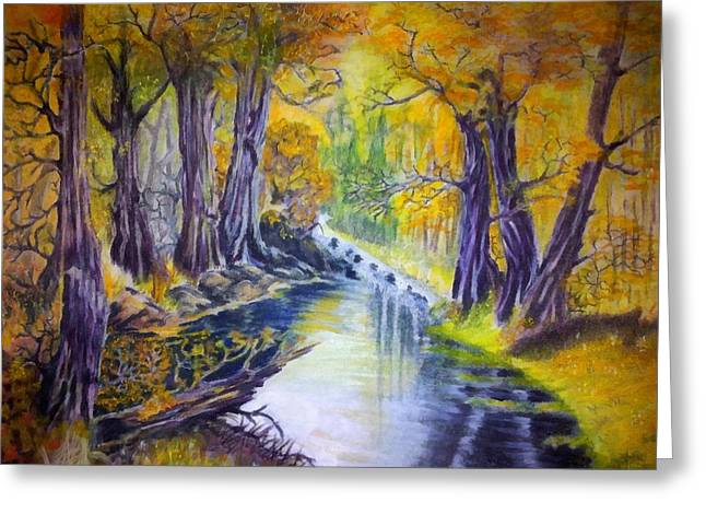 Painter Pastels Greeting Cards - Magic Forest Greeting Card by Serran Dalmak