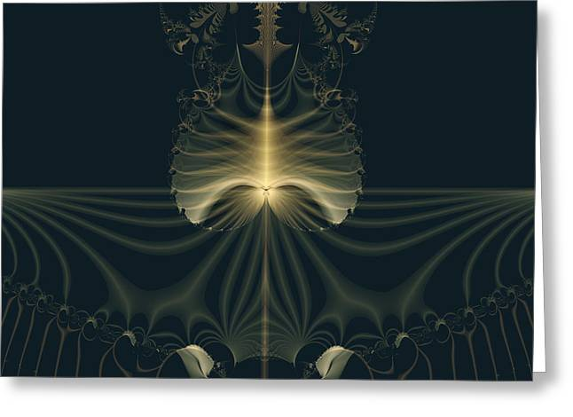 Geometric Style Greeting Cards - Magic Garden Abstract Art Greeting Card by Design Windmill