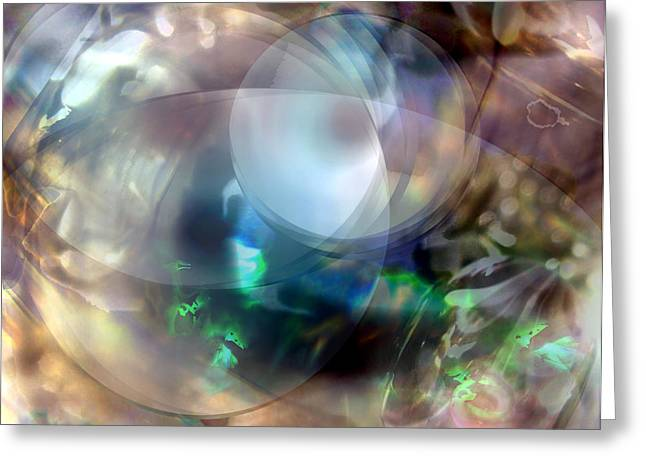 Abstract Digital Digital Art Greeting Cards - Magic Glass II Greeting Card by Judy Paleologos