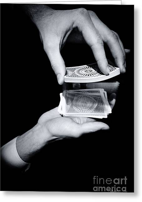 Dexterous Greeting Cards - Magic Hands Greeting Card by Pete Edmunds