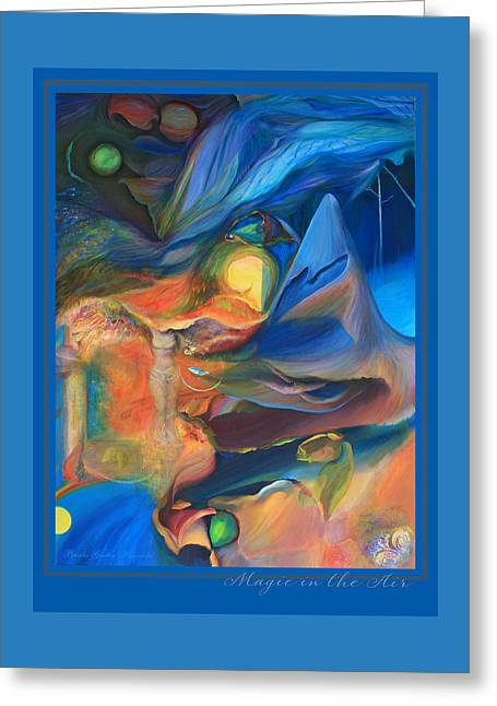 Nike Paintings Greeting Cards - Magic in the Air - an original painting Greeting Card by Brooks Garten Hauschild