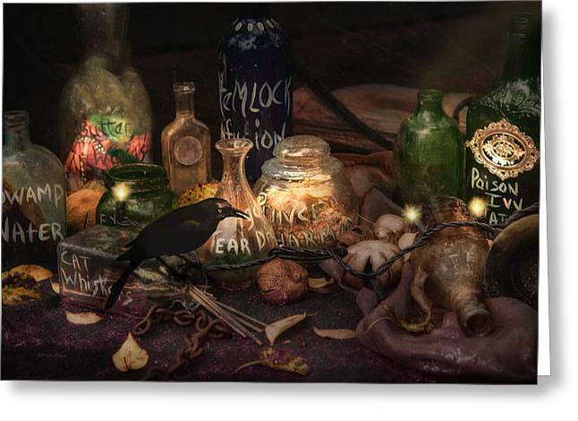 Magic Ingredients Greeting Card by Robin-lee Vieira