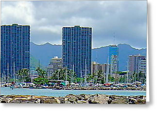 Photograph Of Painter Greeting Cards - Magic Island View - No.0038  Greeting Card by Joe Finney
