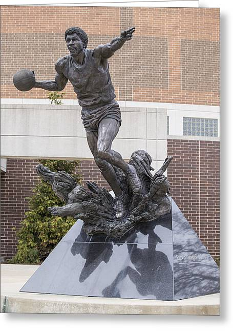 Magic Johnson Statue At Breslin  Greeting Card by John McGraw