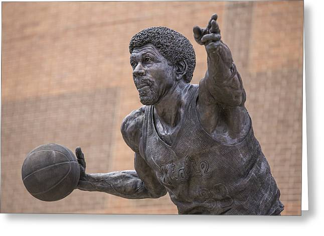 Magic Johnson Statue  Greeting Card by John McGraw