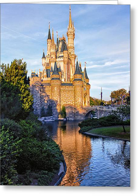 Theme Parks Greeting Cards - Magic Kingdom Castle Greeting Card by Bill Tiepelman