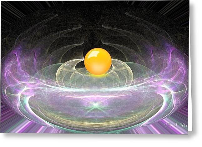 Maria Urso Digital Art Greeting Cards - Magic Marble Greeting Card by Maria Urso