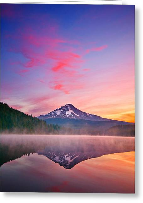Mount Hood Oregon Greeting Cards - Magic Morning Greeting Card by Darren  White