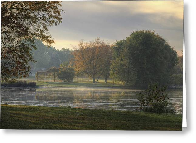 Pond In Park Greeting Cards - Magic Morning Hour Greeting Card by Richard Gregurich
