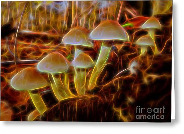 Herfst Greeting Cards - Magic Mushroom-3 Greeting Card by Casper Cammeraat