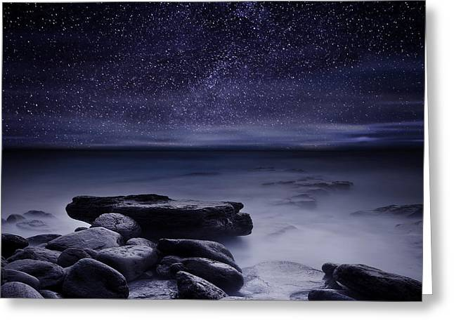 Ocean Moods Greeting Cards - Magic night Greeting Card by Jorge Maia