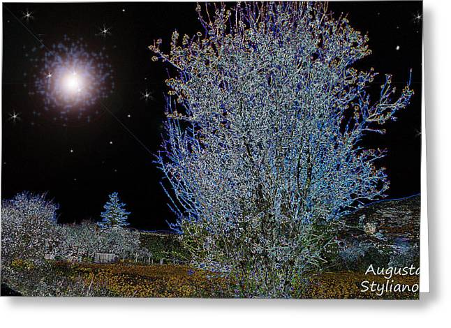 Star Valley Greeting Cards - Magic Night Sky Greeting Card by Augusta Stylianou
