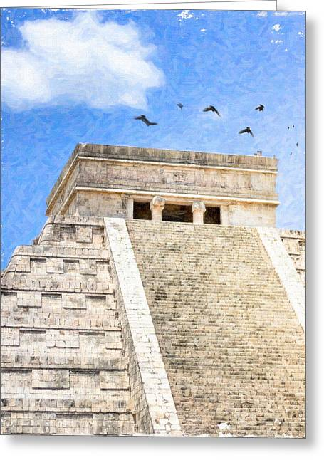 Chichen Itza Greeting Cards - Magic of Chichen Itza Greeting Card by Mark Tisdale