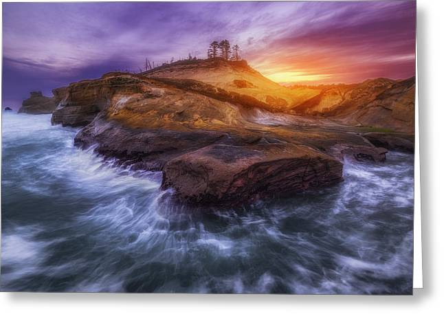 Pacific Ocean Prints Greeting Cards - Magic of Kiwanda Greeting Card by Darren  White