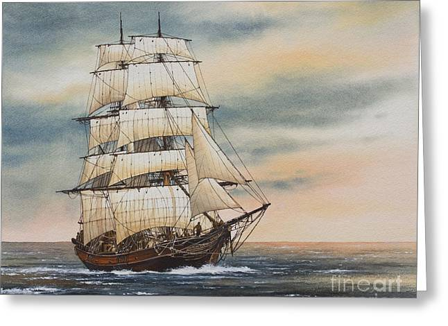 Tall Ship Greeting Cards - Magic of the Sea Greeting Card by James Williamson