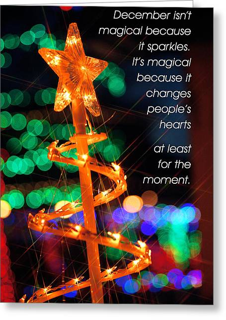 Magic Of The Season Greeting Card by Mike Flynn