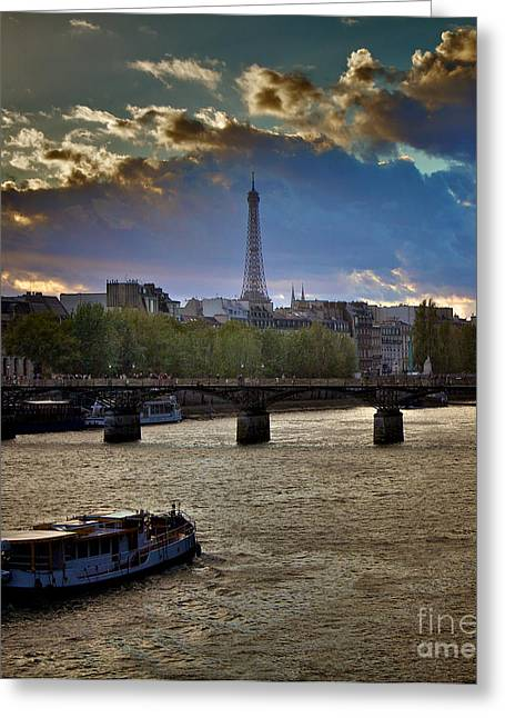 Eiffelturm Greeting Cards - Magic Paris Greeting Card by Donato Iannuzzi