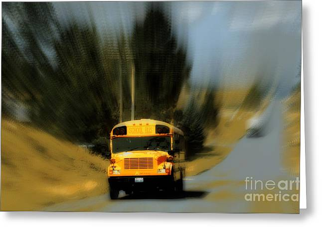 Magic Bus Greeting Cards - Magic school bus Greeting Card by Ana Lusi
