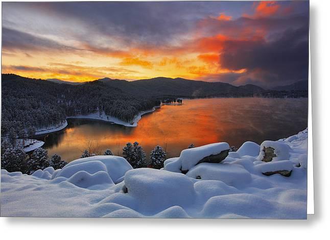 Sheridan Greeting Cards - Magic Sunset Greeting Card by Kadek Susanto