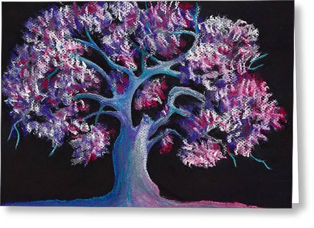 Nature Abstract Pastels Greeting Cards - Magic Tree Greeting Card by Anastasiya Malakhova