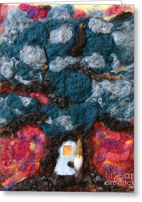 Roots Tapestries - Textiles Greeting Cards - Magic Tree House Greeting Card by Shakti Chionis