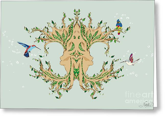Magic Tree Greeting Card by Disko Galerie