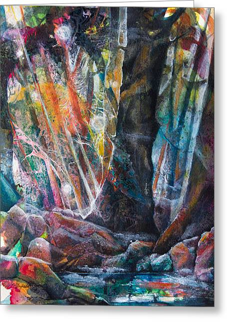 Sunbeam Mixed Media Greeting Cards - Magic Tree Greeting Card by Patricia Allingham Carlson