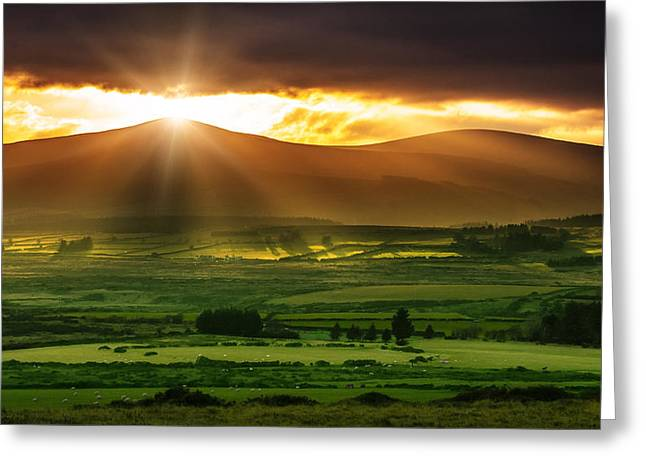 Magic Valley Greeting Card by Semmick Photo