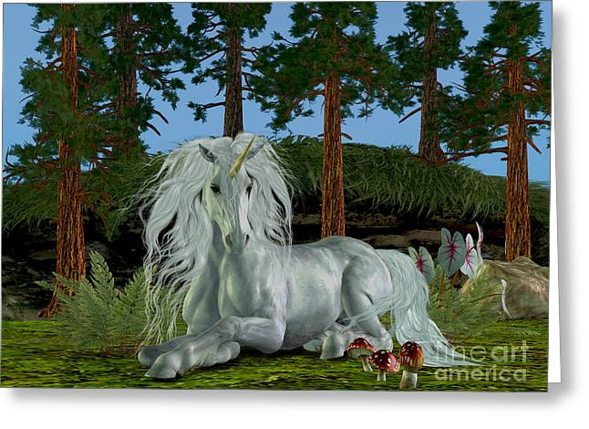 Fantasy Creature Greeting Cards - Magic Woodland Greeting Card by Corey Ford