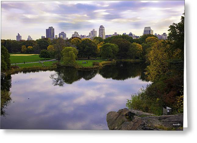 Water Scape Greeting Cards - Magical 1 - Central Park - New York Greeting Card by Madeline Ellis
