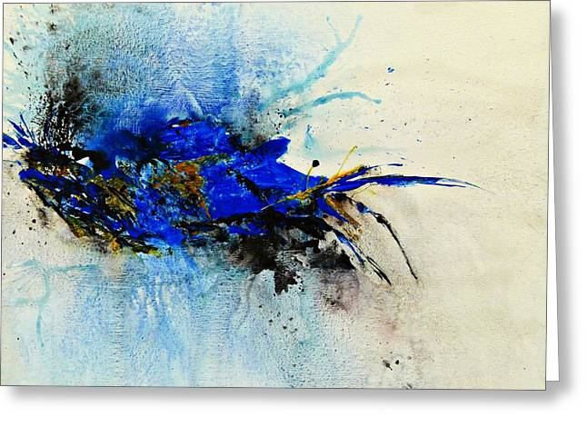 Isi Greeting Cards - Magical Blue-abstract Art Greeting Card by Ismeta Gruenwald