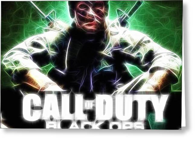Xbox Greeting Cards - Magical Call Of Duty Greeting Card by Paul Van Scott