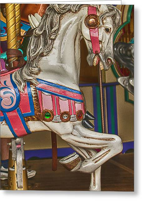 Amusements Greeting Cards - Magical Carrsoul Horse Greeting Card by Garry Gay