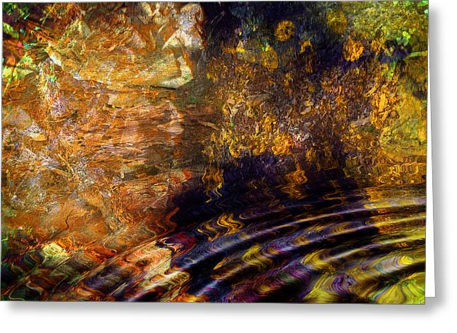 Cavern Mixed Media Greeting Cards - Magical Cavern Greeting Card by Dorothy Berry-Lound