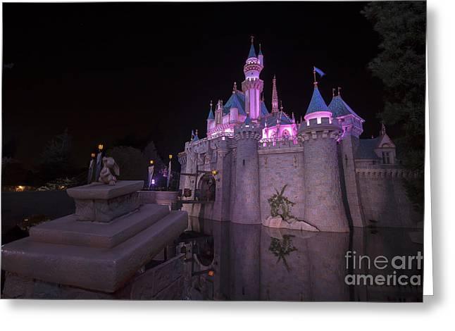 Anaheim California Greeting Cards - Magical Disney Greeting Card by Shishir Sathe