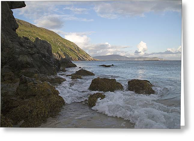 Surf Lifestyle Greeting Cards - Magical Evening Keem Beach Ireland Greeting Card by Betsy C  Knapp