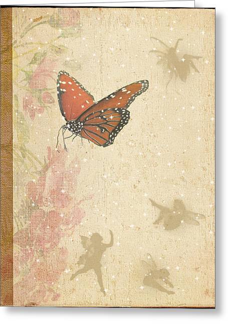 Faries Greeting Cards - Magical Garden Greeting Card by Rosalie Scanlon