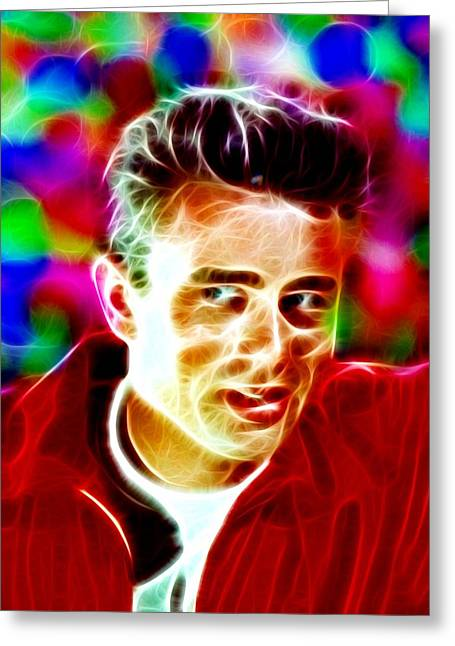 James Dean Drawings Greeting Cards - Magical James Dean Greeting Card by Paul Van Scott