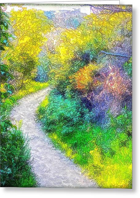 Mystical Landscape Greeting Cards - Magical Lace Pathway Through The Park Greeting Card by Joel Bruce Wallach